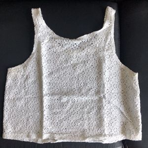 Forever 21 Boxy lace crop top